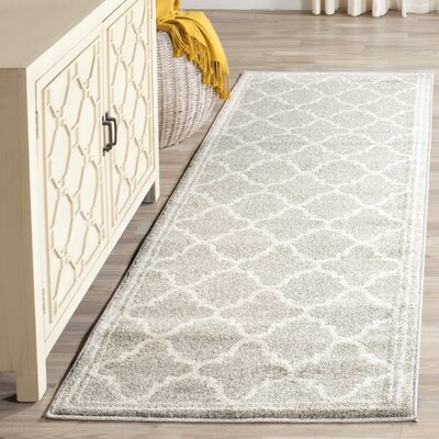 Maritza Light Gray & Beige Indoor/Outdoor Area Rug Rug Size: Runner 23 x 9
