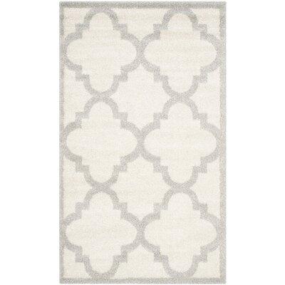 Maritza Beige & Light Gray Indoor/Outdoor Area Rug Rug Size: Rectangle 4 x 6