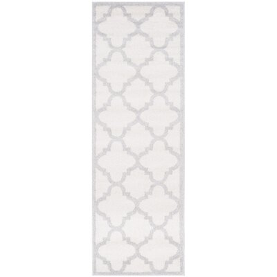 Maritza Beige & Light Gray Indoor/Outdoor Area Rug Rug Size: Runner 23 x 7