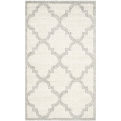 Levon Beige & Light Gray Indoor/Outdoor Area Rug Rug Size: 26 x 4