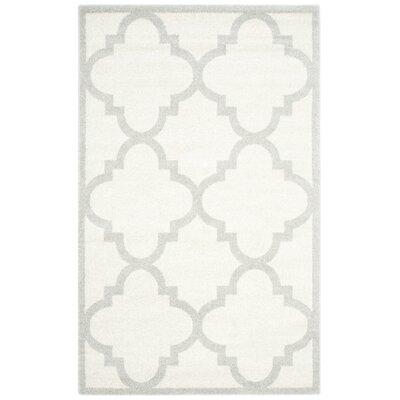 Levon Beige & Light Gray Indoor/Outdoor Area Rug Rug Size: 5 x 8