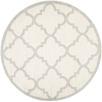 Maritza Beige & Light Gray Indoor/Outdoor Area Rug Rug Size: Round 9