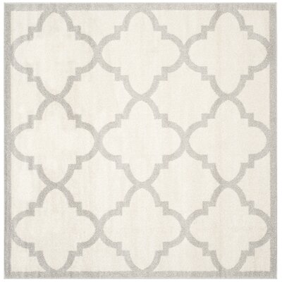 Maritza Beige & Light Gray Indoor/Outdoor Area Rug Rug Size: Square 9