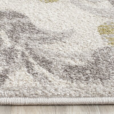Maritza Floral Ivory/Light Grey Indoor/Outdoor Area Rug Rug Size: Runner 23 x 9