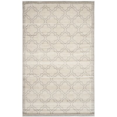 Maritza Geometric Ivory/Light Gray Indoor/Outdoor Area Rug Rug Size: 5 x 8