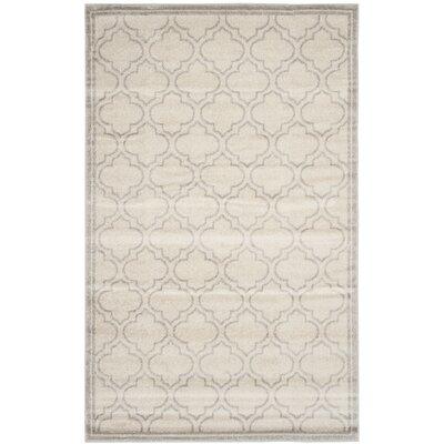 Levon Ivory/Light Gray Indoor/Outdoor Area Rug Rug Size: 26 x 4