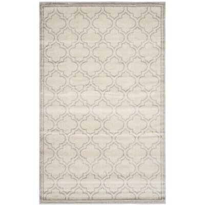Maritza Geometric Ivory/Light Gray Indoor/Outdoor Area Rug Rug Size: 3 x 5