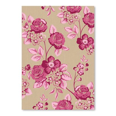 Pink Floral Graphic Art Size: 10