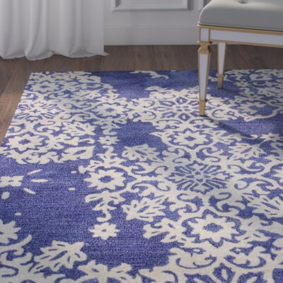 Chaudeville Hand-Tufted Navy Area Rug