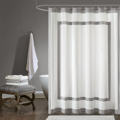 Cohle Cotton Shower Curtain Color: Gray