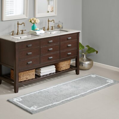 Hayley Bath Rug Size: 24 x 72, Color: Gray
