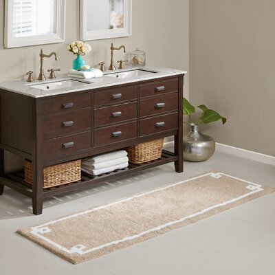Hayley Bath Rug Size: 24 x 72, Color: Taupe
