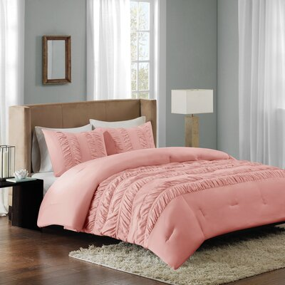 Bagimont Comforter Set Size: Full/Queen, Color: Coral