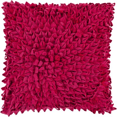 Tuers Throw Pillow Cover Size: 18 H x 18 W x 0.25 D, Color: Garnet