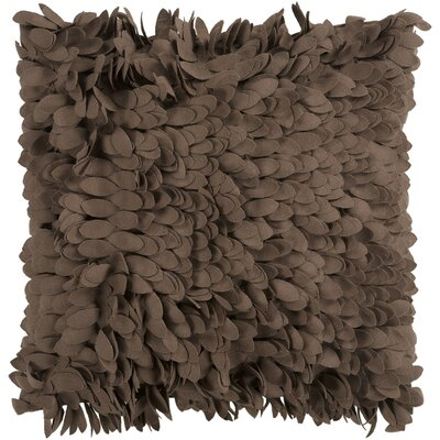 Bassilly Pillow Cover Size: 18 H x 18 W x 0.25 D, Color: Dark Brown