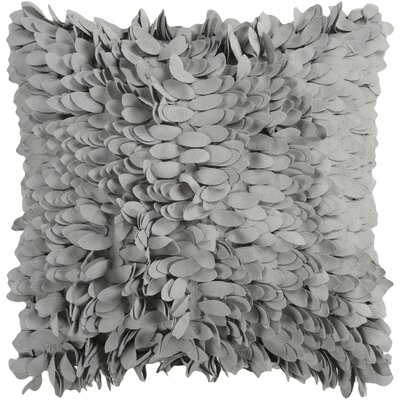 Bassilly Pillow Cover Size: 18 H x 18 W x 0.25 D, Color: Medium Gray