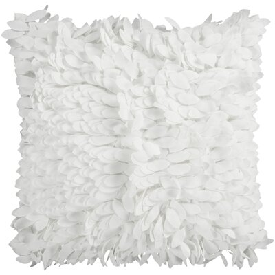 Bassilly Pillow Cover Size: 18 H x 18 W x 0.25 D, Color: White