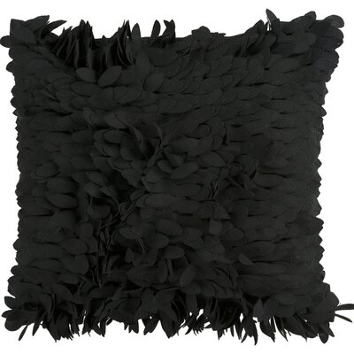 Bassilly Throw Pillow Cover Size: 22 H x 22 W x 1 D, Color: Black