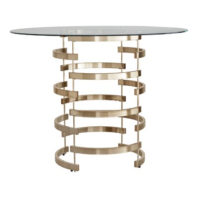 Paramount Counter Height Dining Table Base Finish: Champagne Gold