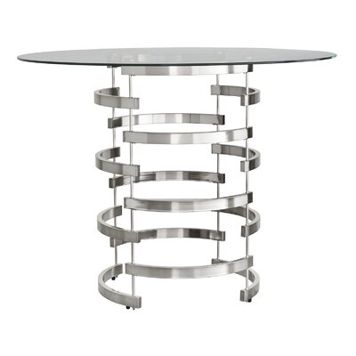Daphne Counter Height Dining Table Finish: Chrome
