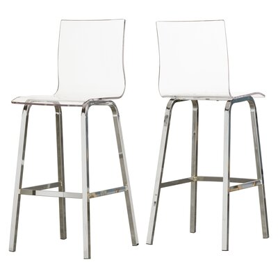 Paramount 29 Bar Stool Finish: Chrome