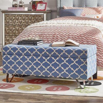 Chesham Wood Storage Ottoman Upholstery Color: Heritage Blue