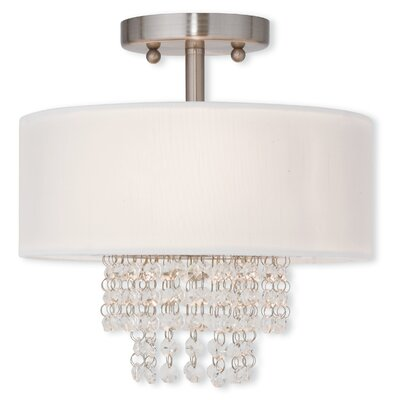 Peverall 2-Light Semi Flush Mount Size: 11.25 H x 11 W x 11 D