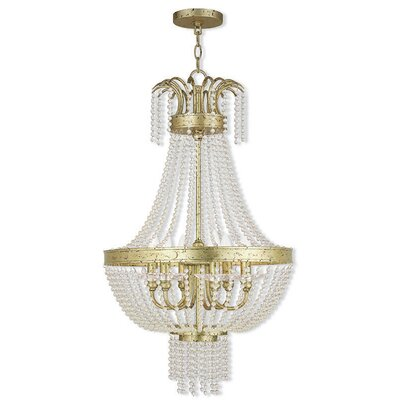 Rachedi 6-Light Crystal Chandelier Finish: Winter Gold