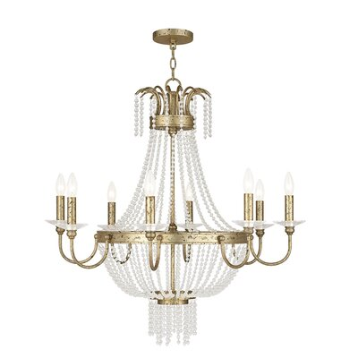 Rachedi 8-Light Crystal Chandelier Finish: Winter Gold
