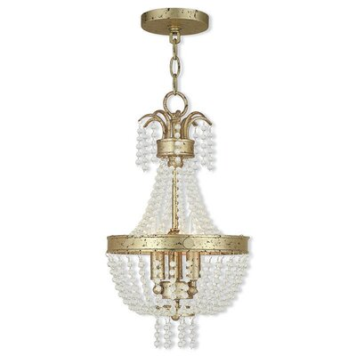 Rachedi 3-Light Crystal Chandelier Finish: Winter Gold