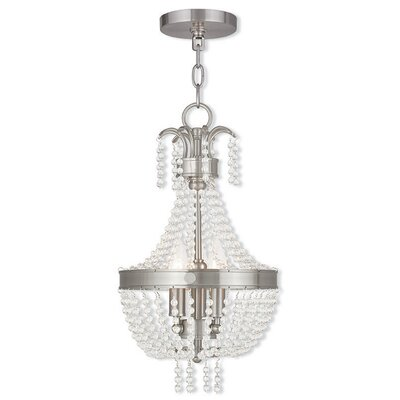 Rachedi 3-Light Crystal Chandelier Finish: Brushed Nickel