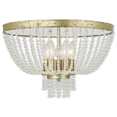 Rachedi 5-Light Flush Mount Finish: Winter Gold