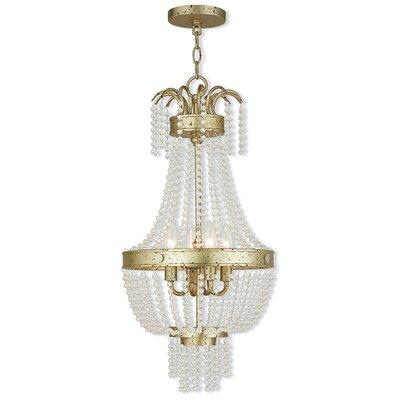Rachedi 4-Light Crystal Chandelier Finish: Winter Gold