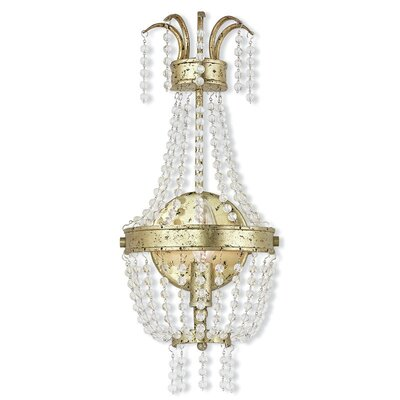 Rachedi 1-Light Crystal Pendant Finish: Winter Gold