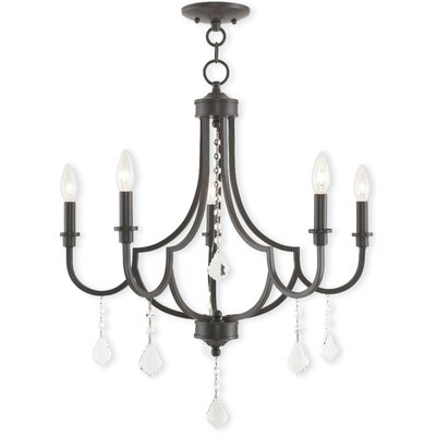 Electra 5-Light Candle-Style Chandelier Finish: English Bronze