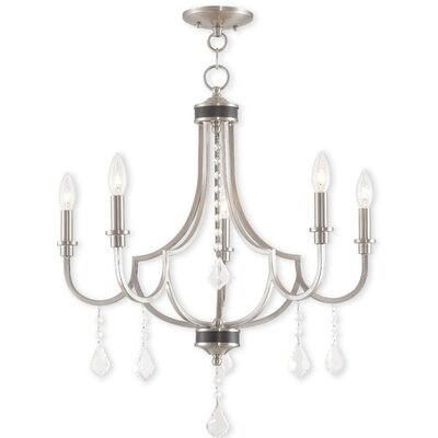 Crayford 5-Light Candle-Style Chandelier Finish: Brushed Nickel