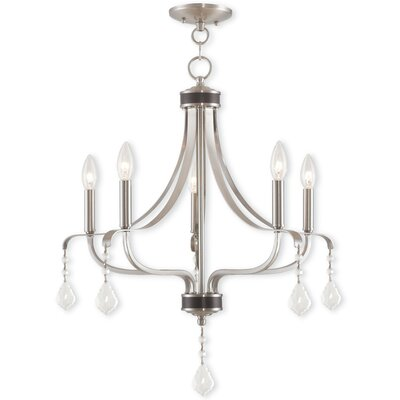 Kidsgrove 5-Light Candle-Style Chandelier Finish: Brushed Nickel