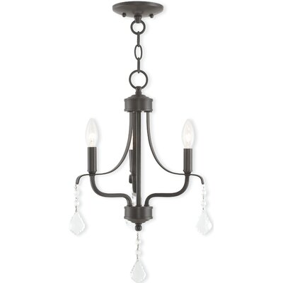 Etienne 3-Light Candle-Style Chandelier Finish: English Bronze