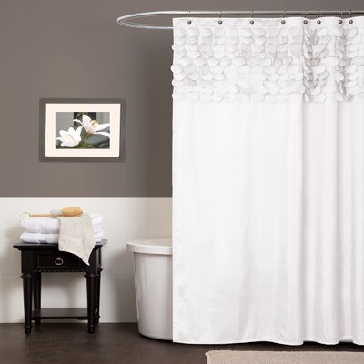 Reuland Shower Curtain Color: White