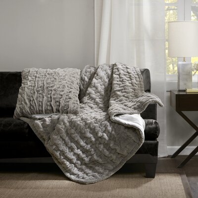Renee Throw Pillow Color: Gray
