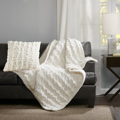 Renee Throw Pillow Color: Ivory