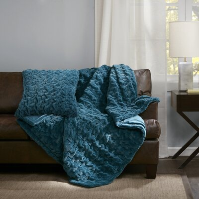 Renee Throw Pillow Color: Teal