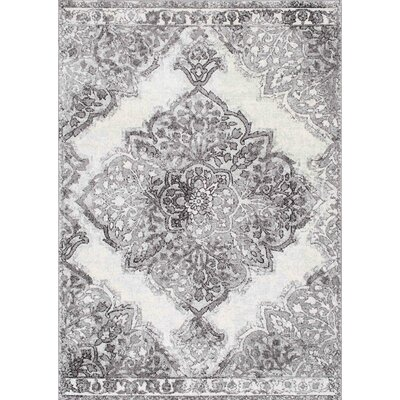 Wokefield Gray Area Rug Rug Size: Rectangle 4 x 6
