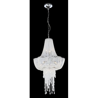 Simon 9-Light Crystal Chandelier