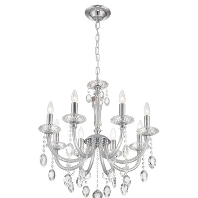 Dunaway 8-Light Crystal Chandelier