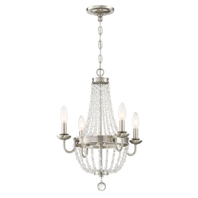 Dujardin 4-Light Crystal Chandelier