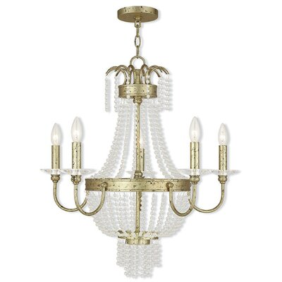 Rachedi 5-Light Crystal Chandelier Finish: Winter Gold