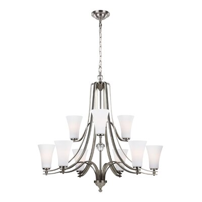 Scheider 9-Light Shaded Chandelier