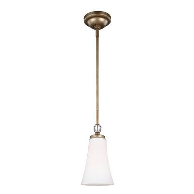Scheider 1-Light Mini Pendant Finish: Sunset Gold