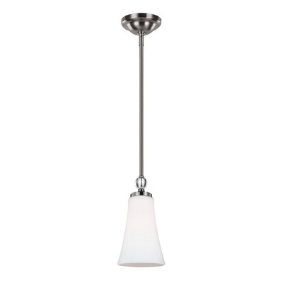 Scheider 1-Light Mini Pendant Finish: Satin Nickel